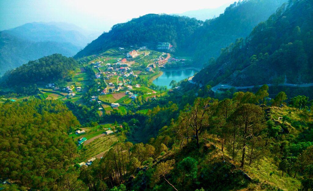 khurpatal lake bird view